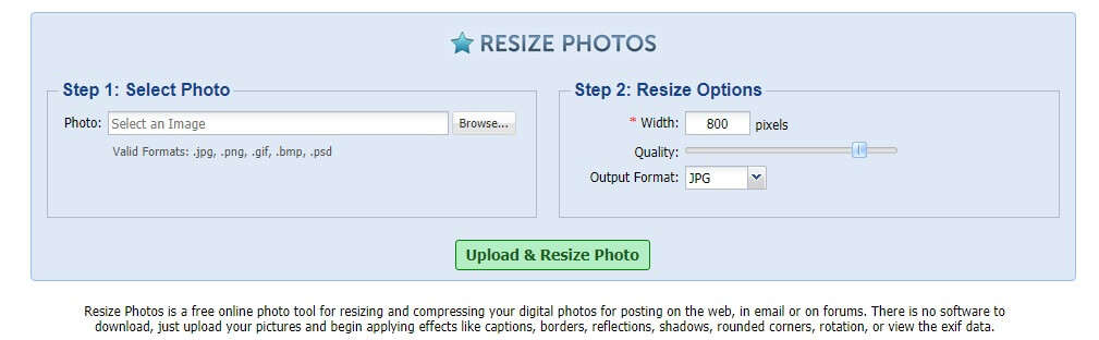 Resize Photos resize pictures online